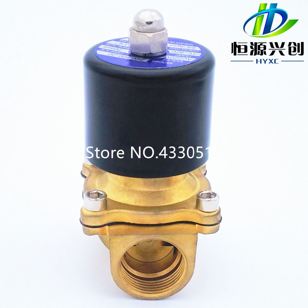 "2019 Electromagnetic Valve 2W160-32/40/50 NC/NO 2 Way 1/2"" Gas Water Pneumatic Electric Solenoid Valve Water Air 24V AC110V 220V"