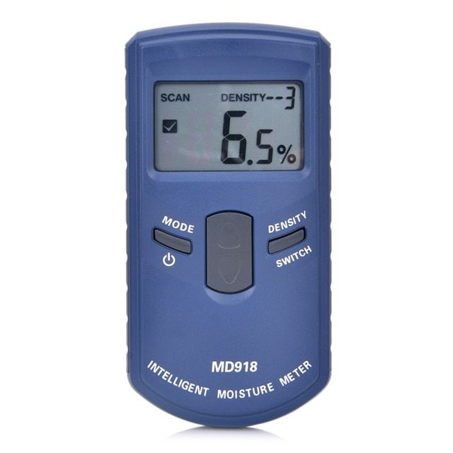 Digital Wood Moisture Meter Intelligent Wood Humidity Meter Damp Detector Tester Paper Inductive Moisture Analyzer MD918 4~80%