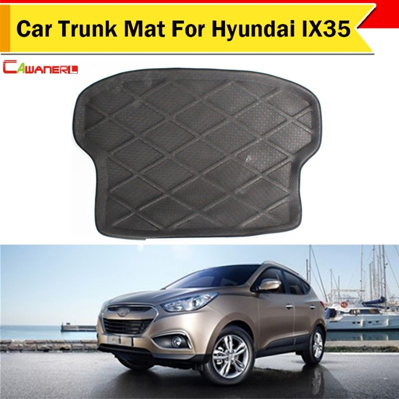 Cawanerl Car SUV Boot Tray Liner Protector Floor Cargo Carpet Mat Trunk Mat Waterproof Dustproof For Hyundai IX35 2010-2015
