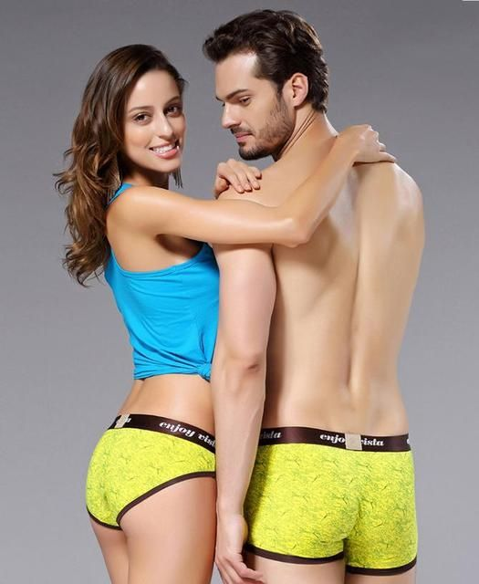 2014 Sexy Couples Underpants Natural Modal Comfortable Breathe Freely Kinckers/Lover Short Pants