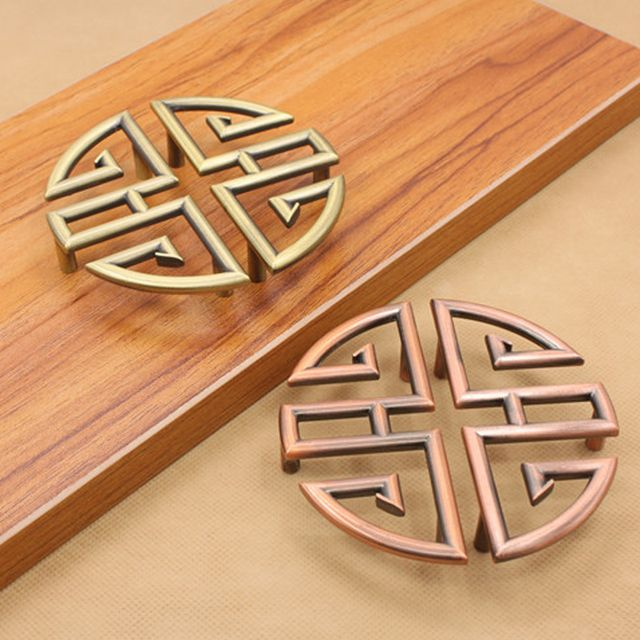 1pcs Vintage Furniture Kitchen Cabinet Knobs And Handles Antique Bronze Drawer Door Pulls Handle High Quality Hardware