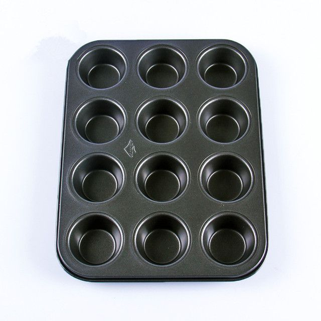 Heavy duty carbon steel cupcake baking tray,12 mini cup cupcake shaped cake pan,nonstick cupcake baking tray,3d cupcake mold
