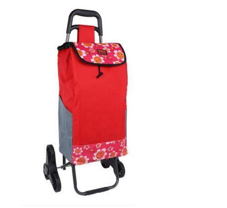Reusable Shopping Bag Oxford Shopping Trolley Bag On Wheels Folding Hand Cart