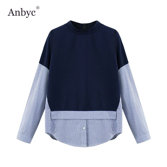 ANBYC 2016 Winter And Autumn loose  women Korean version shirt blouse