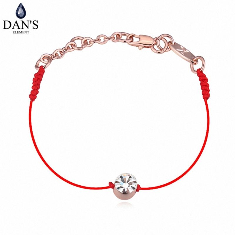 Austrian Crystals thin red thread string rope Charm Bracelets & bangles for women Fashion  New sale Top Hot summer style #113957