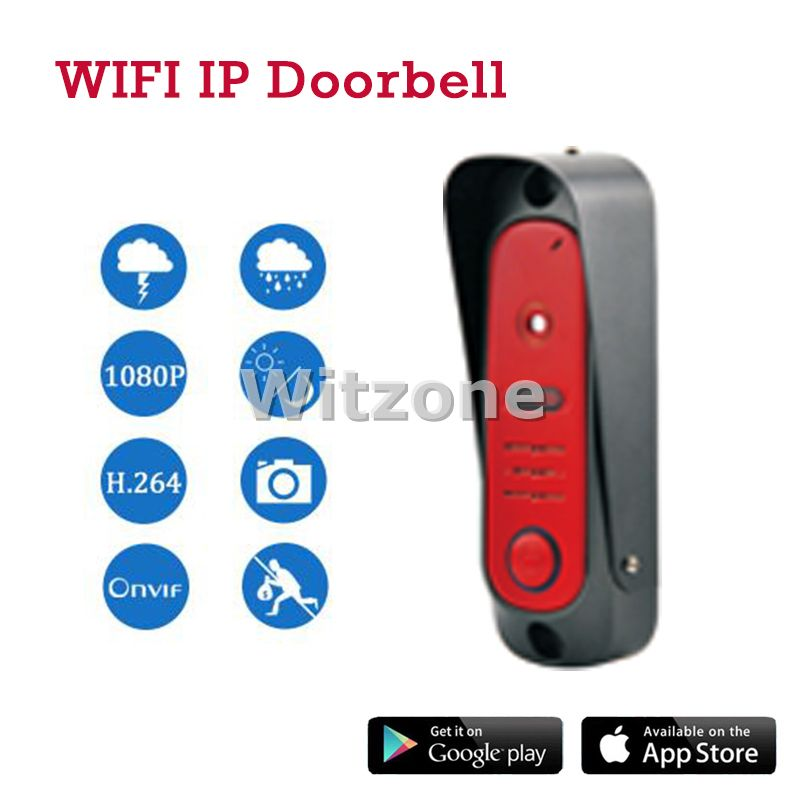 Smart Phone IOS Android Control Wireless WIFI IP Video Doorphone Doorbell Home Entry Intercom System IP65 Waterproof, Free Ship