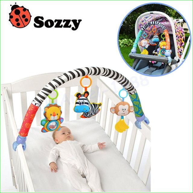 1pcs Sozzy baby hanging baby blue elephant and pink bunny music toy Baby Bed & Stroller Toy Baby Rattle