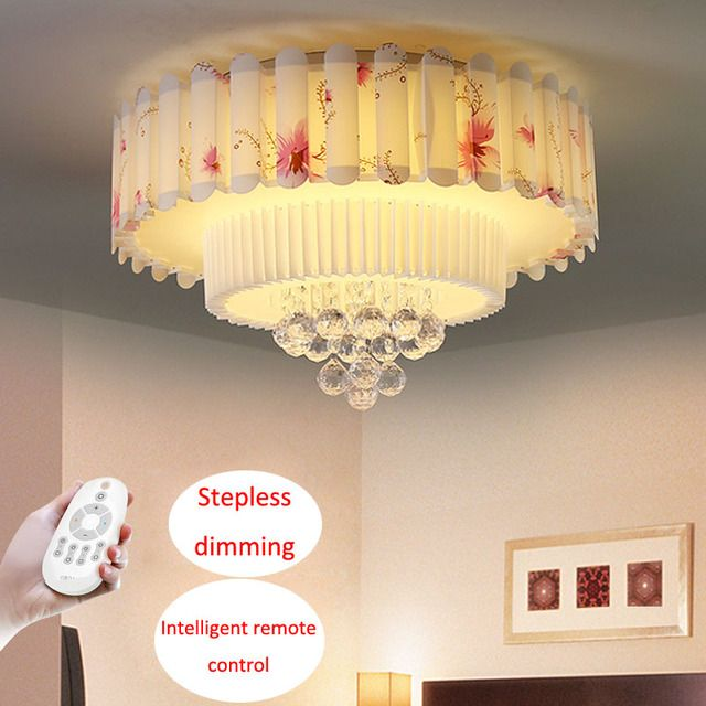 T K9 Crystal Ceiling Light Sweety Circular Acylic Lamps For Bedroom Study Room Home Lighting Children Room Luxury Dhl Free