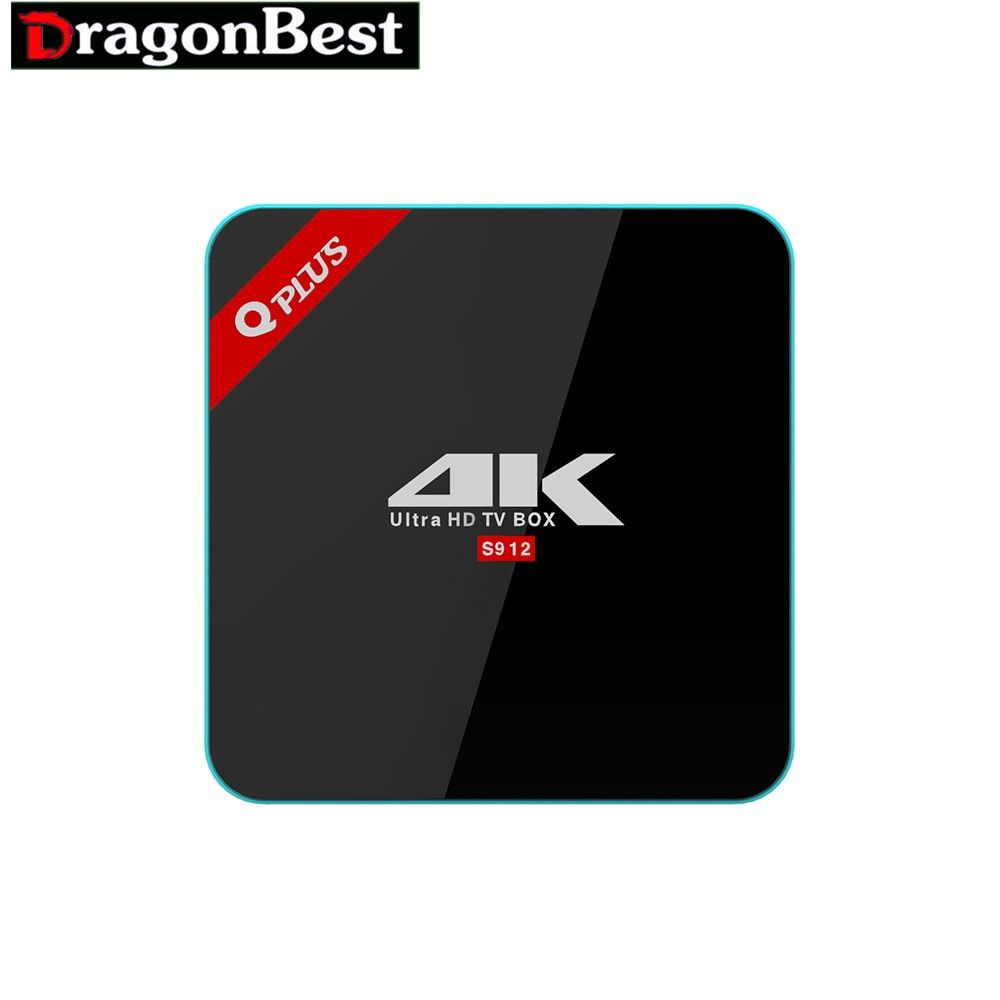 Android tv box Amlogic S912 Q Plus Android 6.0 TV BOX 2G/16G Octa Core Dual WiFi Q-PLUS Smart Set Top Box Media Player better th
