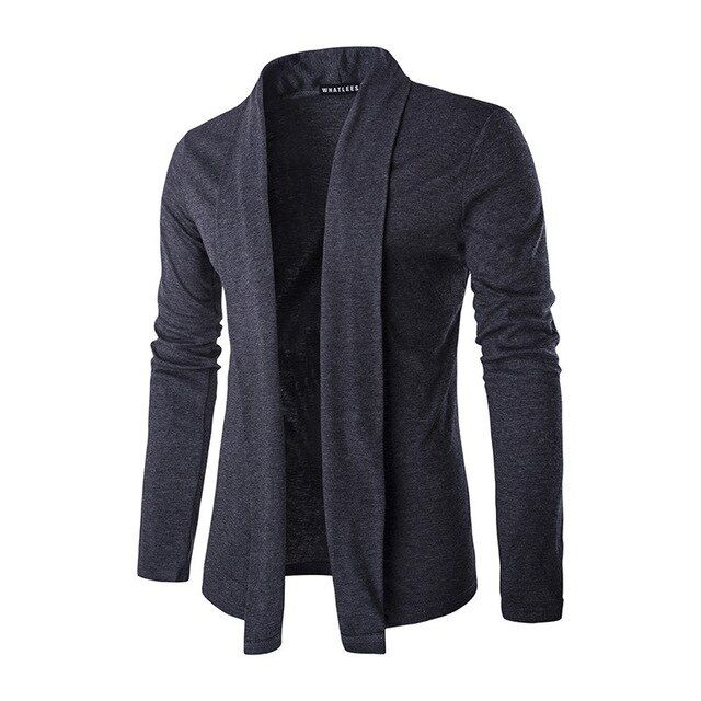 The streets are new men's pure cuff long sleeved sweater coat.