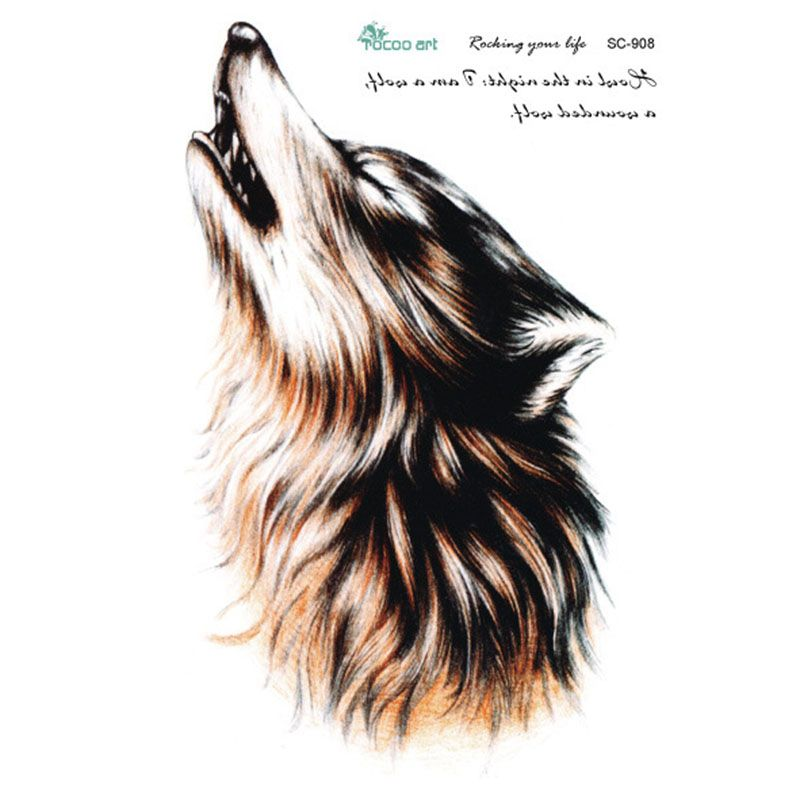 tatoo  Man Arm Tattoo   Wolf Temporary Stickers Waterproof Men Temporary Tattoos Body  Stickers