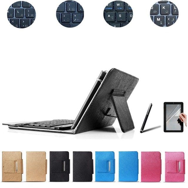 Free Stylus&Center Film+7.85 Inch Wireless Bluetooth Keyboard Case for PocketBook SURFpad 4 M Keyboard Language Layout Customize