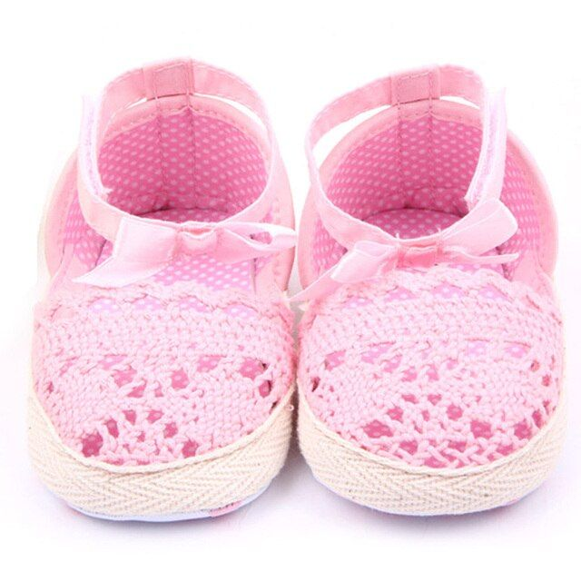 Baby Shoes Girls Cotton Frework Bowknot Infant Soft Sole Baby First Walker Toddler Shoes