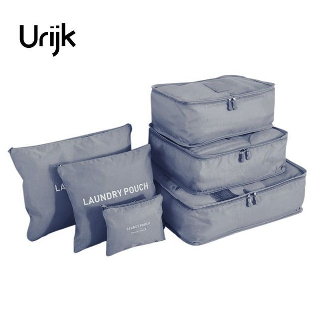 Urijk 6Pcs/lot Travel Storage Bags Set For Clothes Tidy Laundry Pouch Suitcase For Clothes Home Closet Container Organizer
