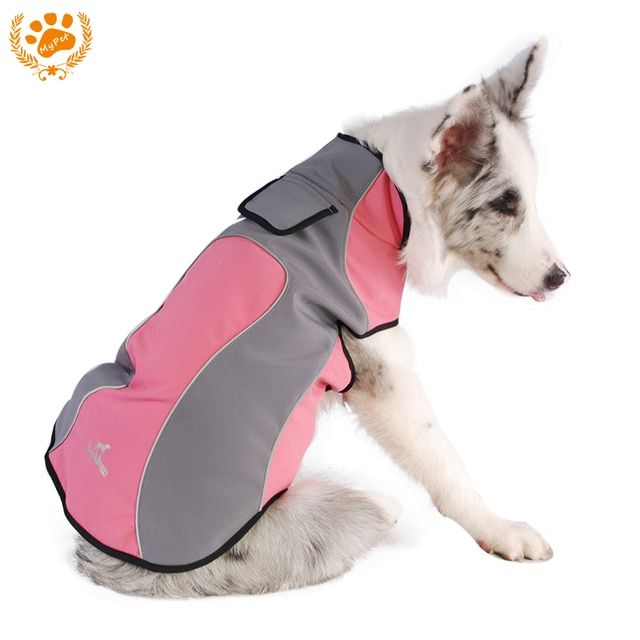 My Pet Spring Waterproof Fleece Dog Clothes Mascotas Wear-Resistant Warm Outdoor Coat Jacket Easy Wear Pink Roupa Para Cachorro