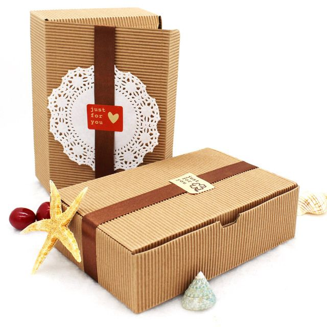 20PCS 18.2*12*5CM Brown Kraft Corrugated Paper Boxes Baking Food Carton Box Cookies Gift Boxes Mooncake Chocolate Packaging