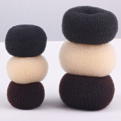 Women's Magic Blonde Donut Hair Ring Bun Former Shaper Hair Styler Maker Tool 77HO