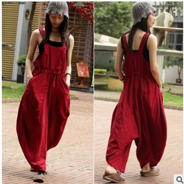 New products listed summer  2016,the original design of high-end loose big yards of women's points cotton linen straight  pants