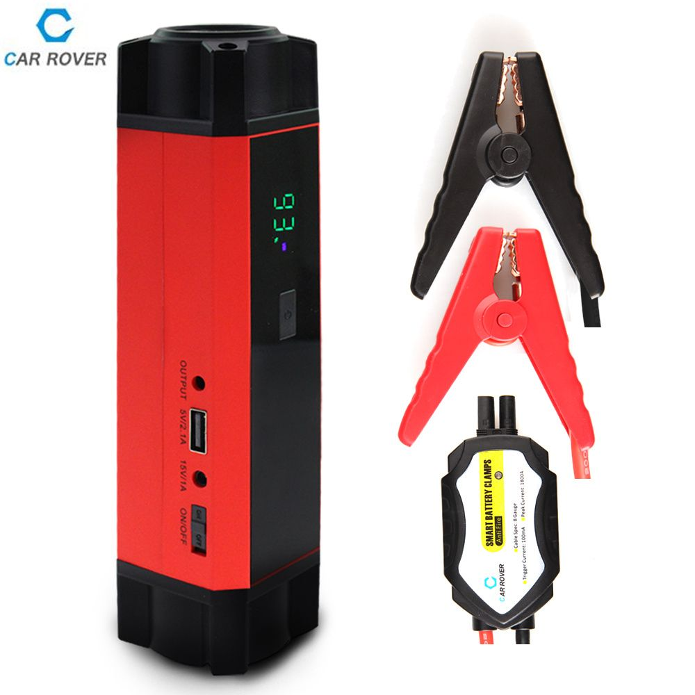 Car Rover  Car Jump Starter Power Bank 1000A Peak Current Multi-function Emergency Car Battery 12v Charge Booster