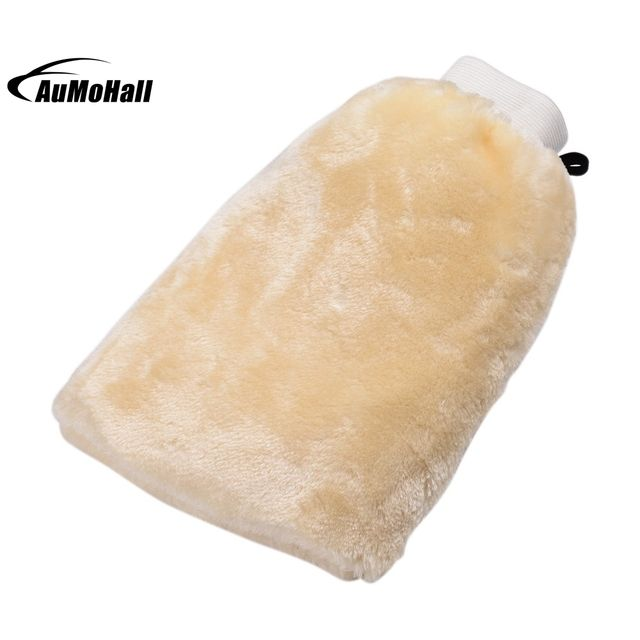 Useful Microfibre Mitt Car Wash Washing Cleaning Mitt Glove Polishing Shampoo Duster Cloth Car Care Brush Bisque 25x16.6cm