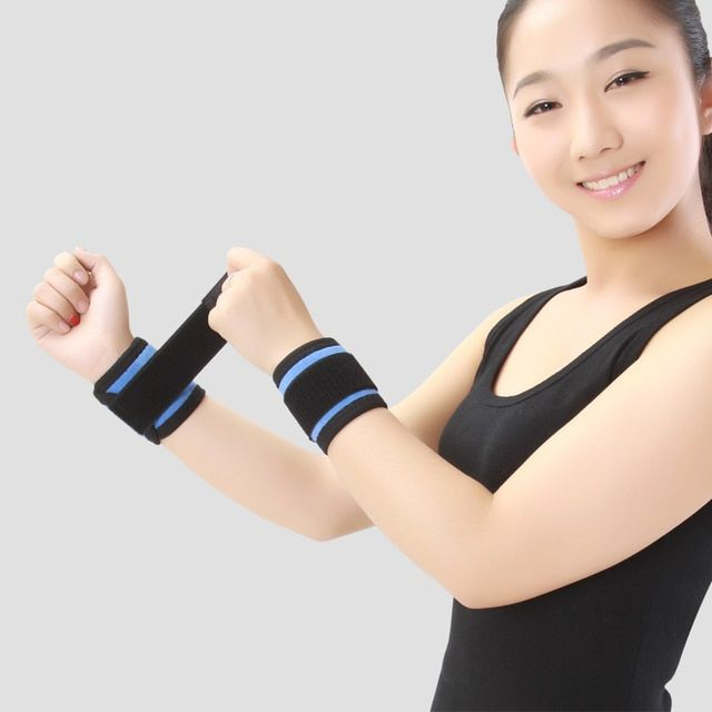 Adjustbale Wrist Support Brace Band Tourmaline Self-heating Wristband Men And Women 1 Pair Protection Wrist Health Care Band