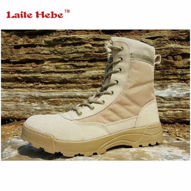 Laite Hebe 2017 New US Military Genuine Leather Boots For Men Combat Delta Tactical Boots Askeri Bot Army Bots Desert Swat Shoes