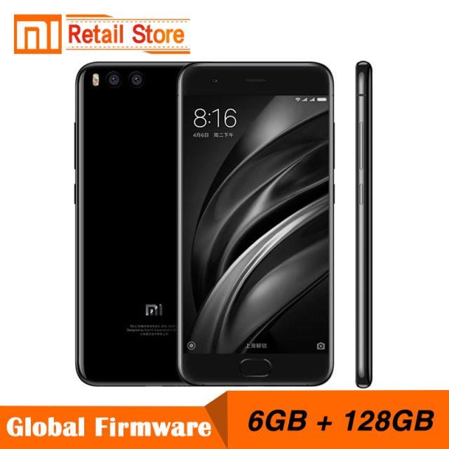"Original Xiaomi Mi6 Mi 6 6GB RAM 128GB ROM Snapdragon 835 Octa Core Mobile Phone 4G+ 5.15"" Dual Cameras 12.0MP Fast Charge"