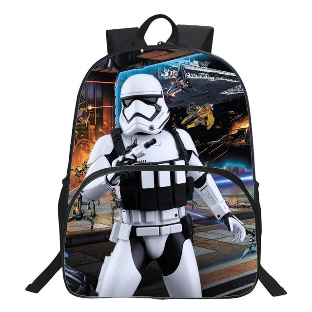 HENGFEI Brand Cute 16 Inch Printing Cartoon Black Women Schoolbag Backpack High Quality  Children School Bags Kids Bookbag Boys