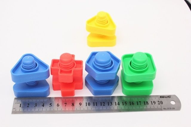5 pairs/lot plastic building blocks toys children birthday gift nut matching game for children educational building blocks