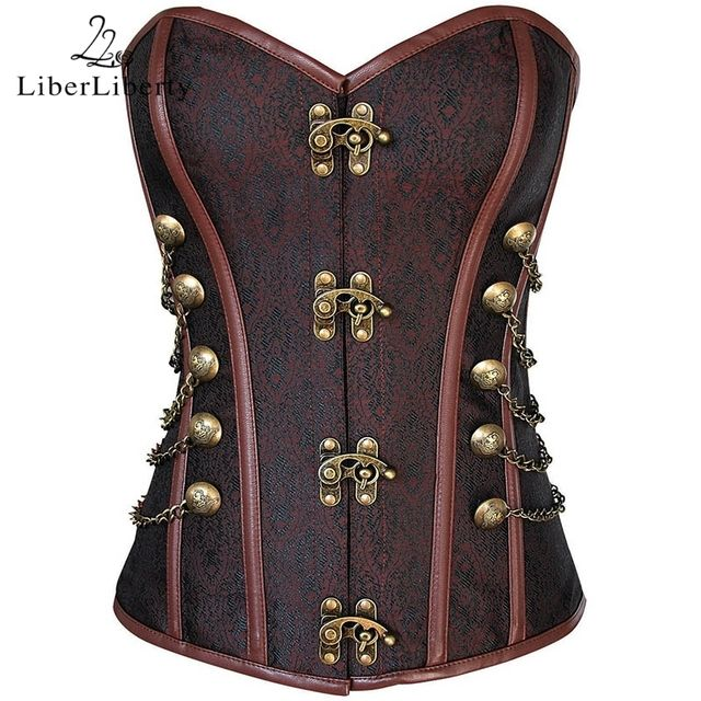 Corsets For Women Steampunk Polyester Blends Slim Waist Gothique Corsets And Bustiers Sexy Gather Slimming Shaper Corset Belt
