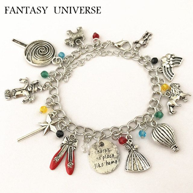 FANTASY UNIVERSE Freeshipping 1pc a lot The Wizard of Oz Charm Bracelet MEIN088