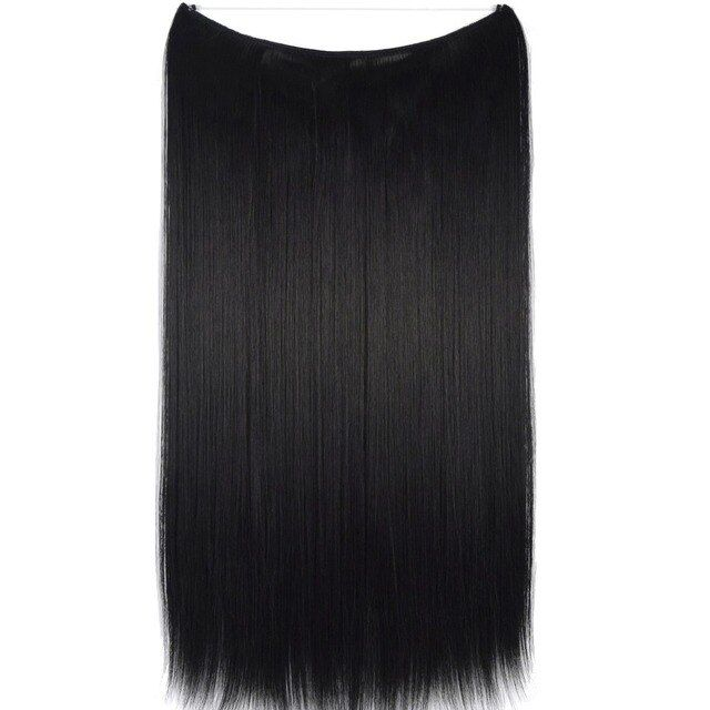 "TOPREETY Heat Resistant B5 Synthetic Hair Fiber 24"" 60cm 100gr Elasticity Wire Halo Hair Extension 30 Colors Available"