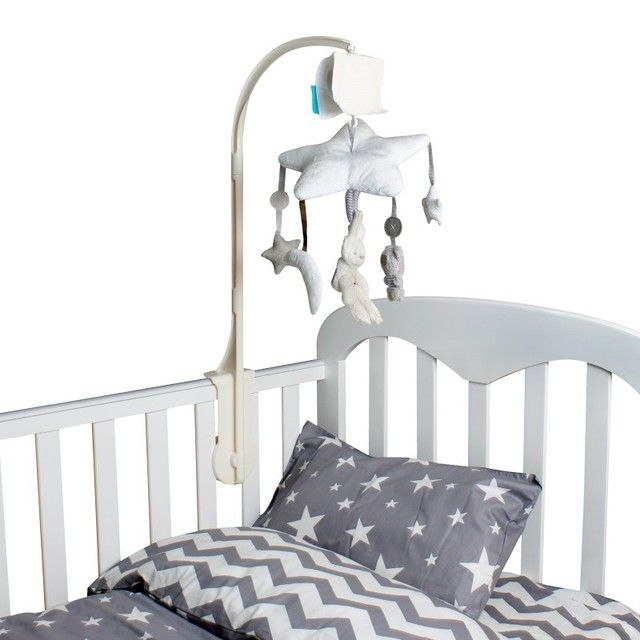 Baby bed accessories Crib Musical Mobile Cot Bell Music Box with Holder Arm Baby Bed Hanging Rattle music Toys Newborn Gift
