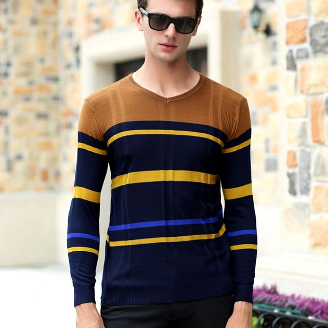 2016 European And American Classic Men's Sweaters Pullovers Embroidered O Neck Sweater Loose Male Sweaters Cashmere Sweater 50