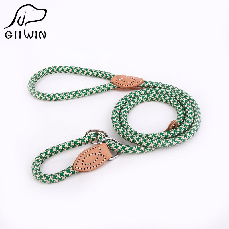 [GIIWIN]Dog Leash High Quality Nylon Adjustable Training Lead collar Dog Strap Rope Traction Dog Harness Collar Lead py0236