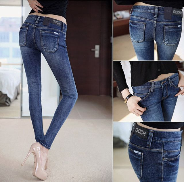 NEW fashion brand women skinny pencil jeans denim elastic pants washing color good quality woman casual Slim jean pants
