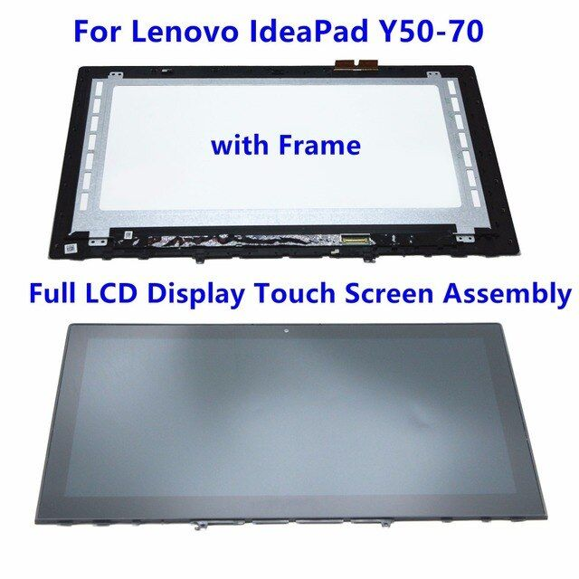 "15.6"" Full LCD Screen Display Touch Glass Digitizer Assembly + Frame For Lenovo IdeaPad Y50-70 20349 B156HTN03.6 LTN156FL02-L01"