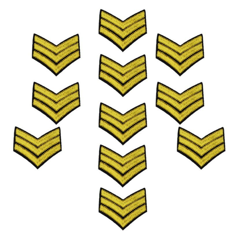 Military embroidered badge patches for clothing iron embroidered patch applique iron on patches sewing accessories for clothing
