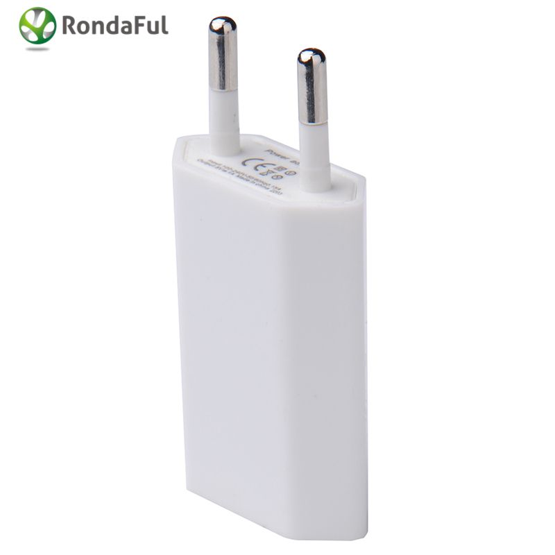 10pcs/lot White Travel Wall Charger Adapter for Iphone Samsung Smartphone Portable EU Plug Phone Charger Holder for GPS Tablet