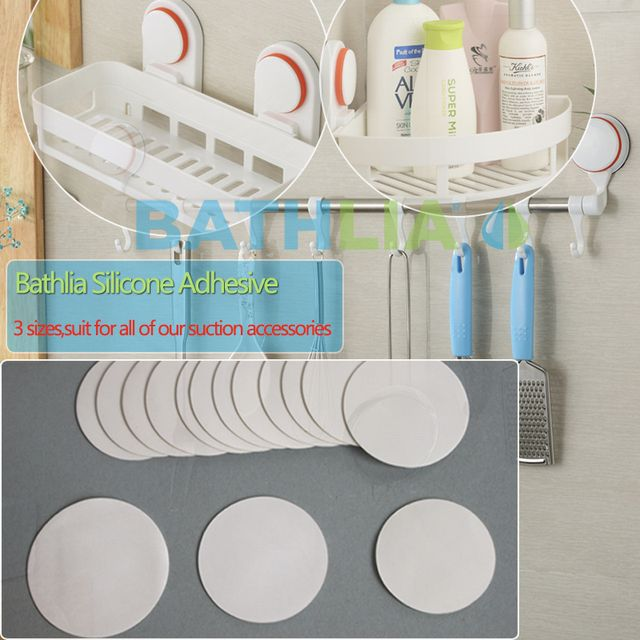 Eco Friendly Silicone Adhesive Spare  Double Sided Strong Sticky Heavy Duty Shelf Adhesive Suction Cup Spare Sticky