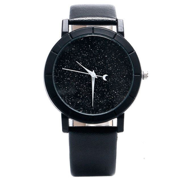 Special Moon Analog Blooming Glitter Dial Wrist Watch Women Trendy Simple Womens Wrist Watches Casual watch women