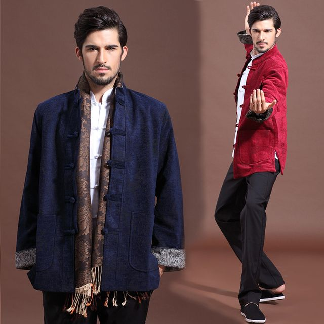 High quality Vintage tang suit autumn spring hanfu fashion men's clothing corduroy chinese style outerwear long-sleeve