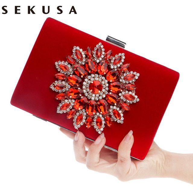 New Single Side Sun Diamond Crystal Evening Bags Clutch Bag Hot Styling Day Clutches Lady Wedding woman bag Rhinestones Purse