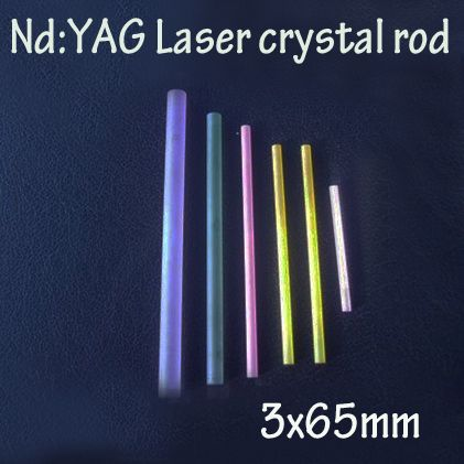 3x65mm Nd: YAG laser crystal rods