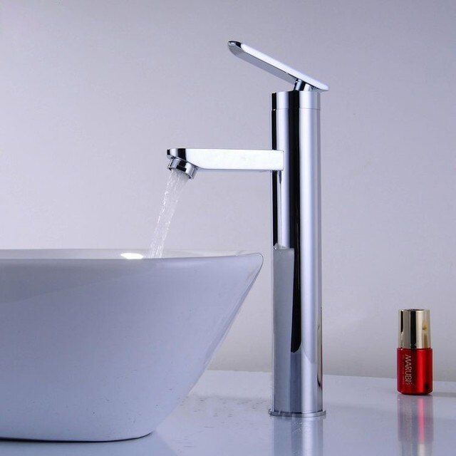 Solid Brass Chrome Water Tap Single Hole Basin Mixer Bathroom Sink Faucet torneira banheiro