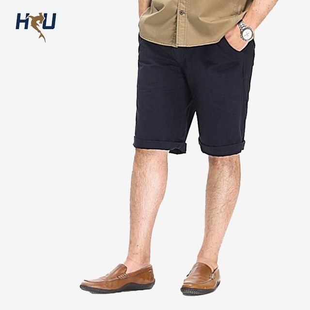 Big size comfotable casual shorts man, cotton summer shorts men, Italian design men's shorts with zipper fly, 38 40 42 44 46 48