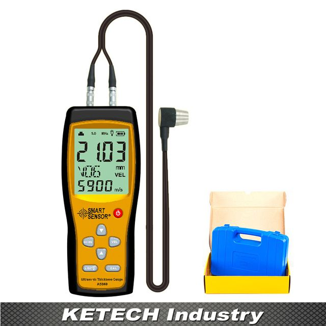 AS860 Portable Ultrasonic Aluminium Plate Steel Thickness Gauge