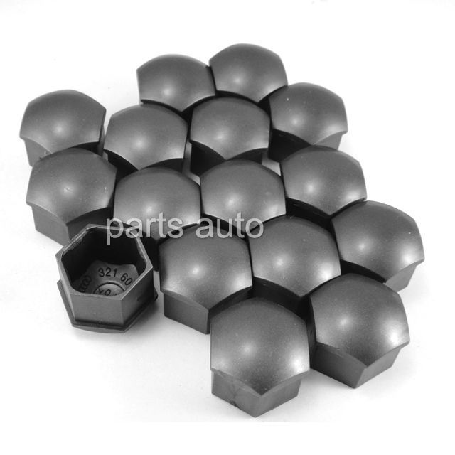 100x Wheel Lug Nut Center Cover Caps for Audi A1 A3 A4 A5 A6 A7 A8 Q5 Q7 TT 321 601 173 A BLH & for VW  for Volkswagen