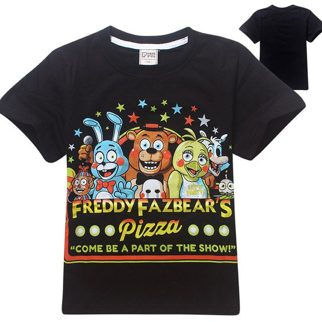 Boys t shirt five nights at freddy camisetas summer fnaf kids t-shirt children clothing freddy's 2 boys clothes cartoon tops
