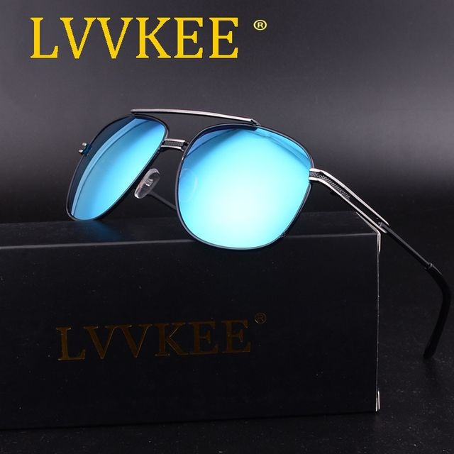 2017 lvvkee New hot-selling Aviator women sunglasses Women retro square sunglasses High quality steampunk UV400 sunglasses